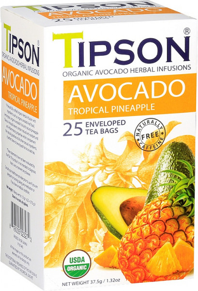 Tipson Tea BIO Avocado Tropical Ananas Hülle 25x1,5g