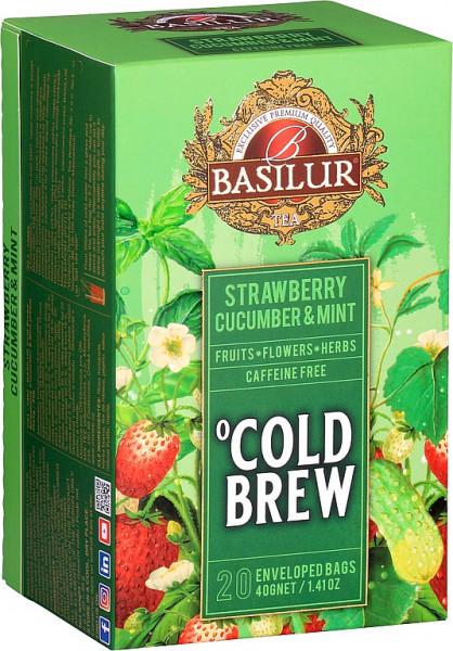 Basilur Tea Cold Brew Erdbeer Gurke & Minze Abdeckung 20x2g