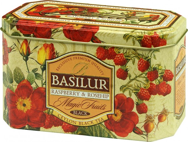 Basilur Tea Magic Fruits – Raspberry & Rosehip (20 Beutel)