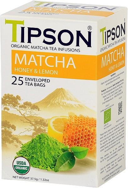 Tipson Tea Matcha Honey & Lemon (25 Beutel)