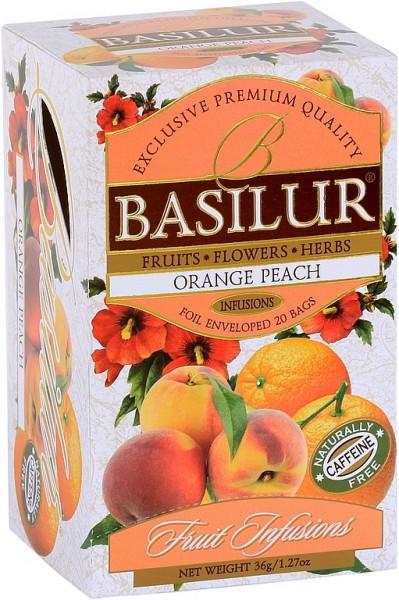 Basilur Tea Fruit Infusions Orange Peach (20 Beutel)