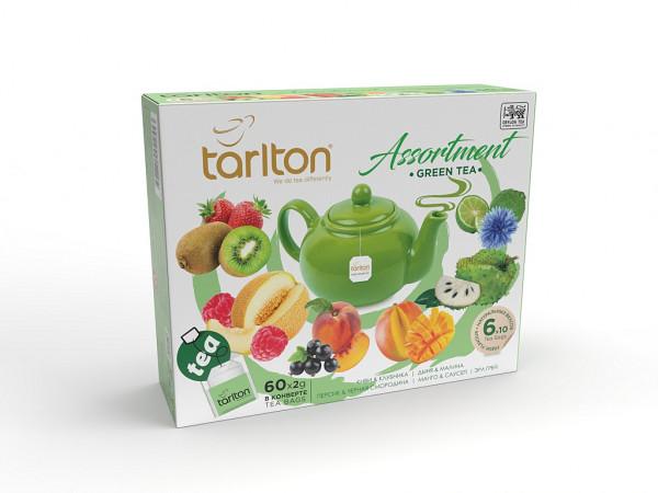 Tarlton Tea grüner Tee Asorty mit 60 Beutel x 2g. 120g.