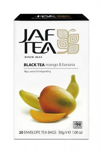Jaf Tea Mango & Banana schwarzer Tee 20 Folienbeutel x 1,5g