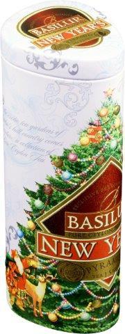 Basilur Tea New Year schwarzer Tee mit 15 Seide Beutel x 1,5g