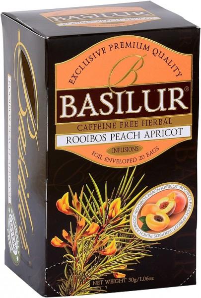 Basilur Tea Infusions – Rooibos Peach Apricot (20 Beutel)