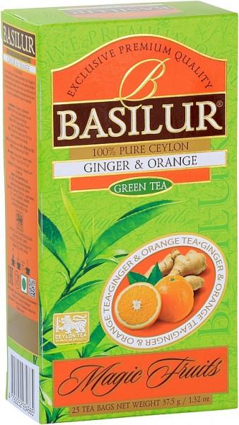 Basilur Tea Magic Fruits Ginger & Orange (25 Beutel)