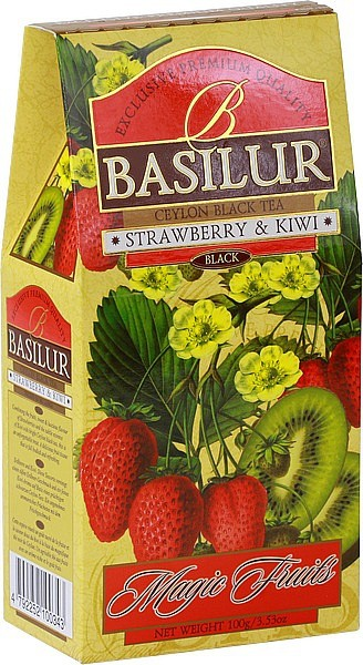 Basilur Tea Magic Fruits Strawberry & Kiwi (Karton)