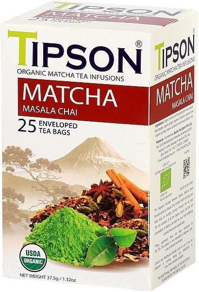 Tipson Tea Matcha Masala Chai (25 Beutel)