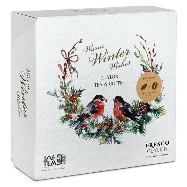 Jaf Tea Box Warmer Winter wünscht Tee & Kaffee Getreide