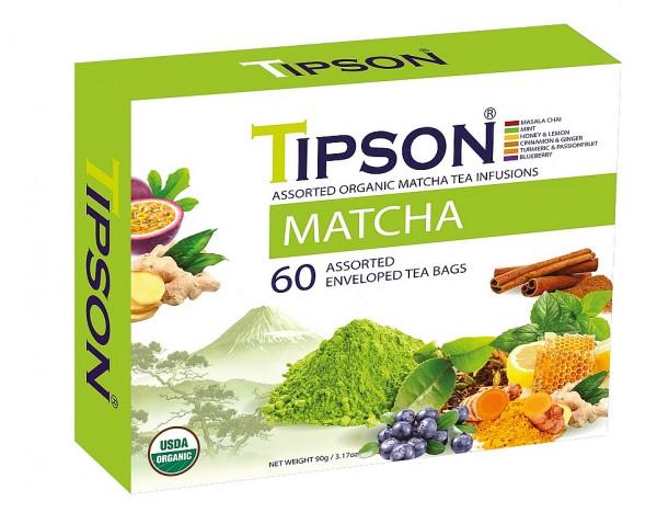 Tipson Tea Variation von Kräutertees BIO MATCHA
