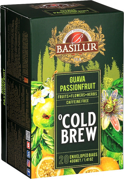Basilur Tea Cold Brew Guave Passionsfrucht Abdeckung 20x2g