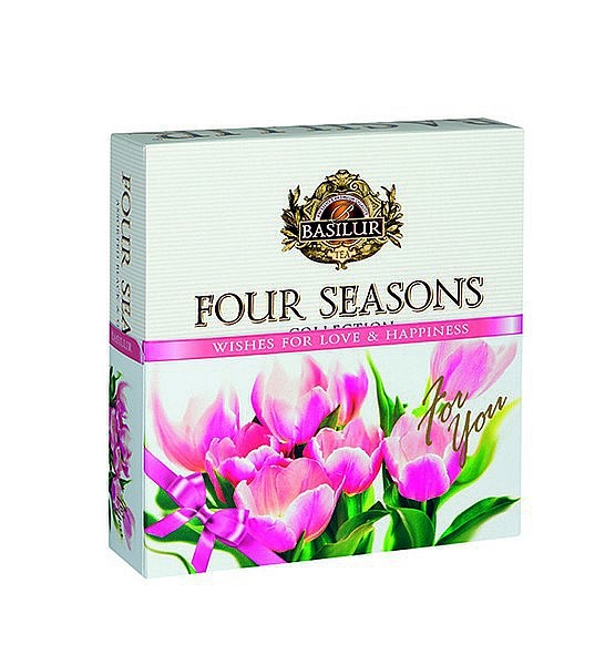 Basilur Tea Four Seasons Wishes For Love & Happiness - Pink (40 Beutel)