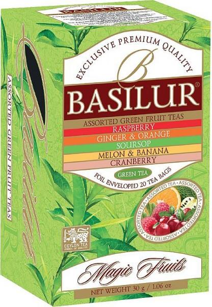 Basilur Tea Magic Fruits – Assorted Green Fruit Teas (20 Beutel)