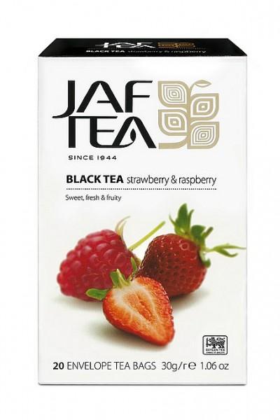 Jaf Tea Strawberry & Raspberry schwarzer Tee 20 Folienbeutel x 1,5g