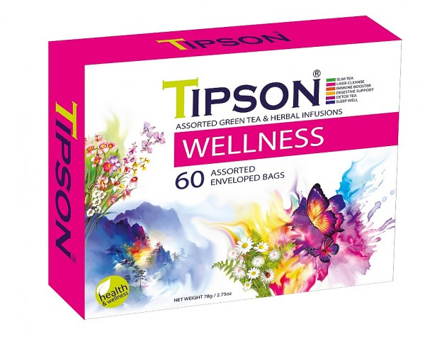 Tipson Tea Variation von Kräutertees HEALTH TEAS