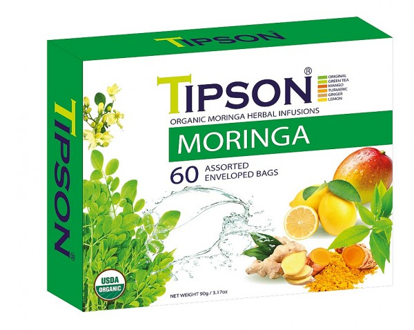 Tipson Tea Variation von Kräutertees BIO MORINGA