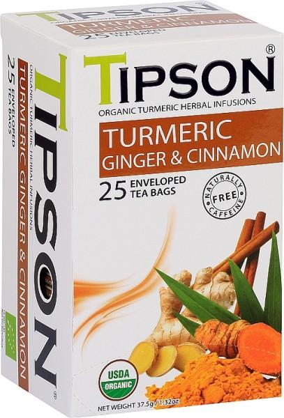 Tipson Tea Turmeric Ginger & Cinnamon (25 Beutel)