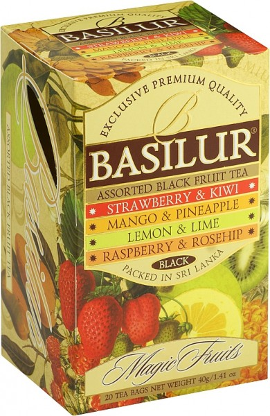 Basilur Tea Magic Fruits – Assorted Bleck Fruit Tea (20 Beutel)