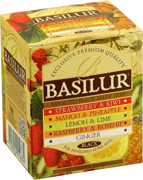 Basilur Tea Assorted Black Fruit Teas (10 Beutel)