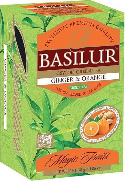 Basilur Tea Magic Fruits – Ginger & Orange (20 Beutel)