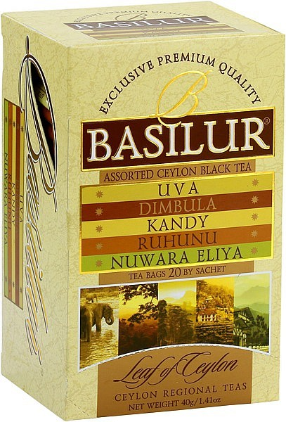 Basilur Tea Leaf of Ceylon – Assorted (20 Beutel)