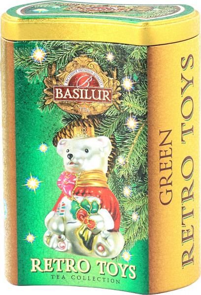 Basilur Tea Retro Toys Grüne Dose 75g