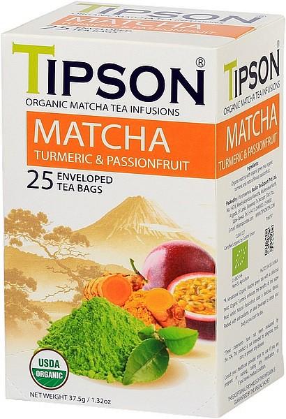 Tipson Tea Matcha Turmeric & Passionfruit (25 Beutel)
