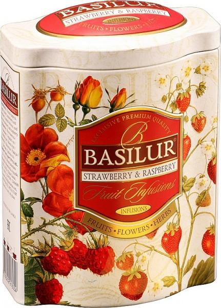 Basilur Tea Fruit Infusions Strawberry & Raspberry (Blechdose)