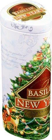 Basilur Tea New Year schwarzer Tee mit 30 Seide Beutel x 1,5g