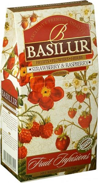 Basilur Tea Fruit Infusions Strawberry & Raspberry (Karton)