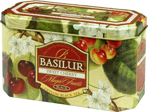 Basilur Tea Magic Fruits Sweet Cherry (flache Blechdose)