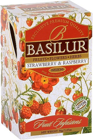 Basilur Tea Fruit Infusions Strawberry & Raspberry (20 Beutel)