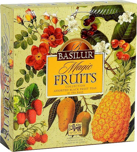 Basilur Tea Magic Fruits Assorted Black Tea Collection (40 Beutel)