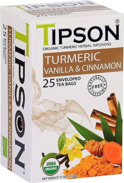 Tipson Tea Turmeric Vanilla & Cinnamon (25 Beutel)