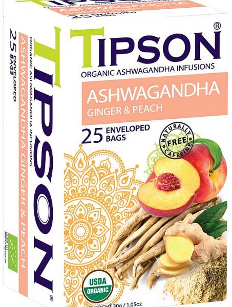 Tipson Tea BIO Ashwagandha Ingwer & Pfirsich