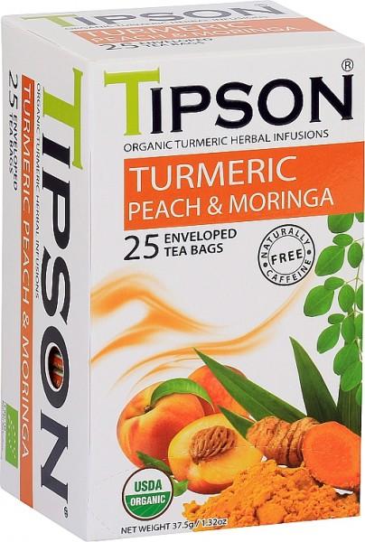 Tipson Tea Turmeric Peach & Moringa (25 Beutel)