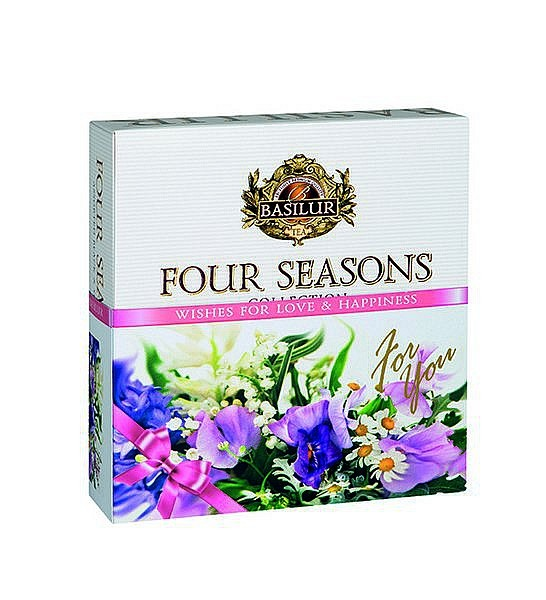 Basilur Tea Four Seasons Wishes For Love & Happiness - Purple (40 Beutel)