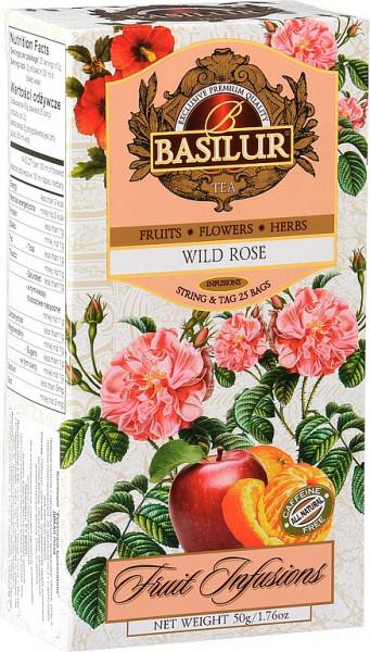 Basilur Tea Fruit Wild Rose hat 25x2g 50g.