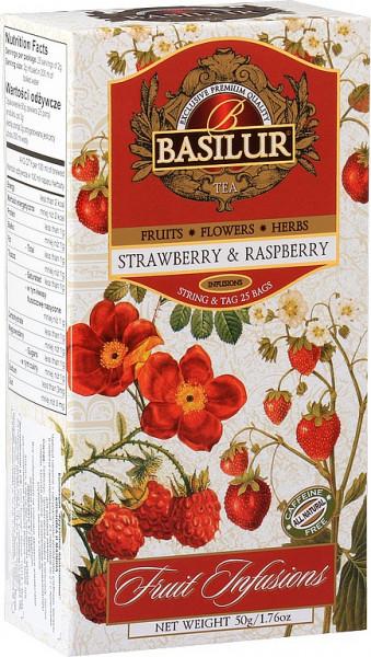 Basilur Tea Fruit Strawberry & Raspberry haben 25x2g 50g.
