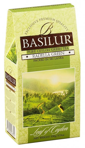 Basilur Tea Leaf of Ceylon – Ladella Green (Karton)