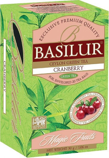 Basilur Tea Magic Fruits – Cranberry (20 Beutel)