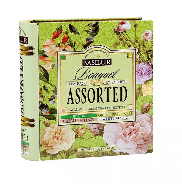 Basilur Tea Bouquet – Assorted Exclusive Green Tea Collection (32 Beutel)
