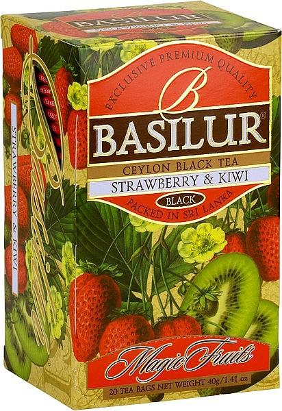 Basilur Tea Magic Fruits Strawberry & Kiwi (20 Beutel)