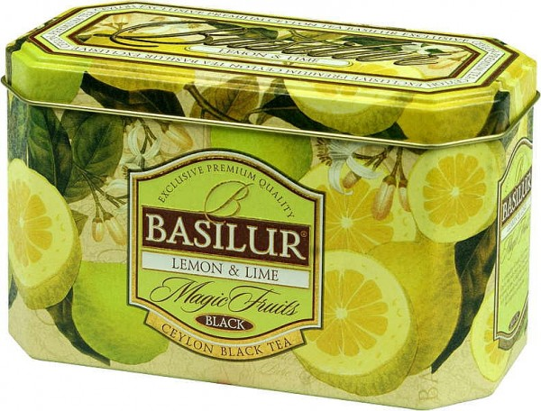 Basilur Tea Magic Fruits – Lemon & Lime (Blechdose)