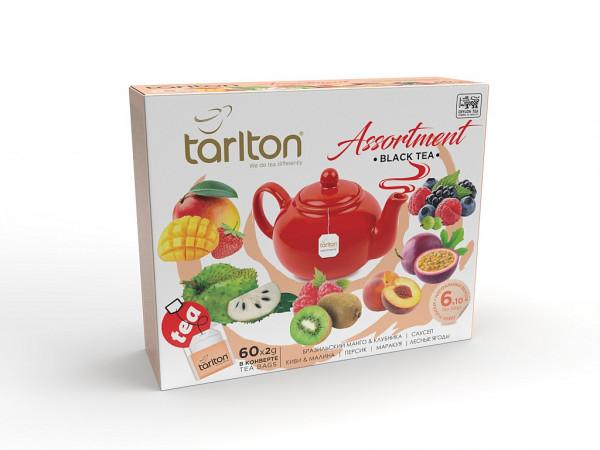 Tarlton Tea schwarzer Tee Assorti mit 60 Beutel x 2g. 120g.
