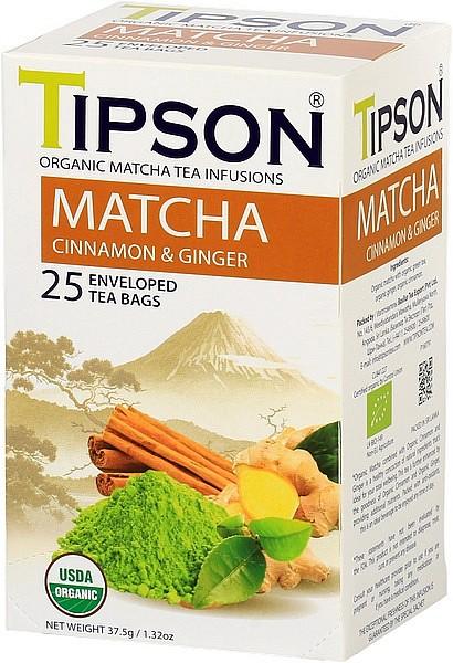 Tipson Tea Matcha Cinnamon & Ginger (25 Beutel)