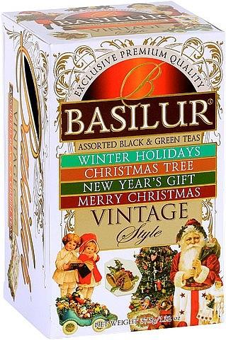 Basilur Tea Vintage Style Assorted Black & Green Teas (Karton)