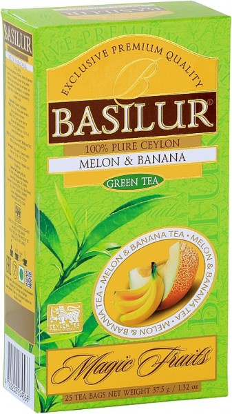 Basilur Tea Magic Fruits - Melon & Banana (25 Beutel)