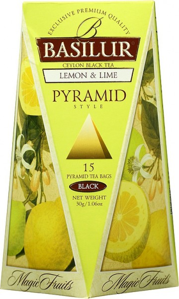 Basilur Tea Magic Fruits – Pyramid Lemon & Lime (15 Beutel)
